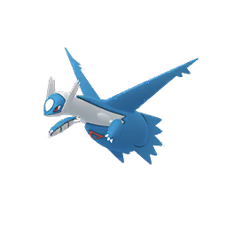 Normal Latios is blue, white and red