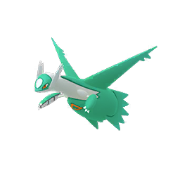 Normal Latios is teal, orange and white